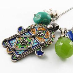 Sweetlime - Lime Punch Hamsa Necklace