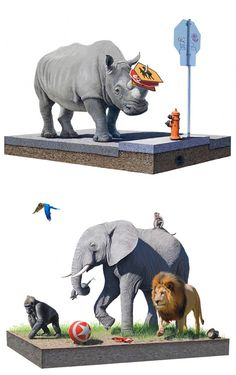 Surreal Animal Paintings by Josh Keyes | Inspiration Grid | Design Inspiration