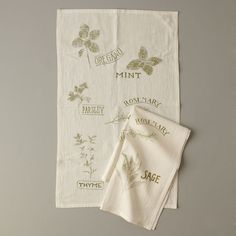 Herbs Tea Towel | west elm