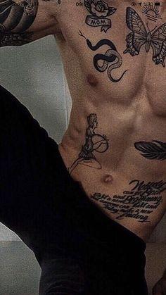 Hot Guys Tattoos, Boy Tattoos, Dream Tattoos, Tattos, Ab Tattoo, Chain Tattoo, Ricks Tattoo, Mexican Skull Tattoos, Ink Link