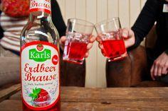 Prost! Die leckere #Erdbeerbrause ist ein spritziger Genuss.