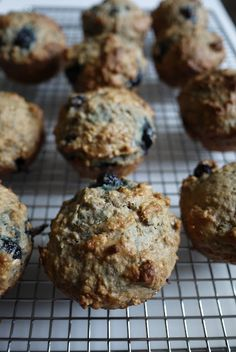tarts & crafts: blueberry oatmeal muffins