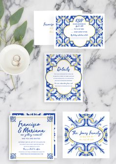 Get inspiration for DIY Wedding Invitations Ideas, choose your own design, then create it in your special day - Choose your favorite theme right here! Cheap Wedding Invitations, Wedding Stationary, Invites, Handmade Wedding, Diy Wedding, Portuguese Wedding, Mediterranean Wedding, Wedding Guest Book Alternatives, Decoration Table