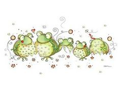 One of my favorite illustrations by one of my favorite artists, Rachelle Anne Miller. Frosch Illustration, Illustration Art, Frog Pictures, Cute Pictures, Funny Frogs, Frog Art, Cute Clipart, Frog And Toad, Whimsical Art