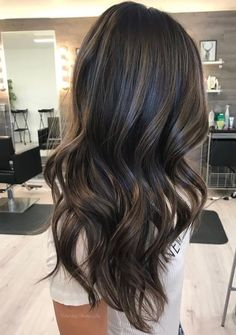 Rich brunette with subtle ash tones