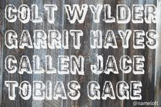 Boys names that slay! #rugged #country #western #southern