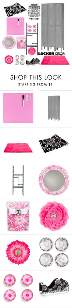 """Decorate Your Locker"" by falarine-the-free ❤ liked on Polyvore featuring interior, interiors, interior design, home, home decor, interior decorating, WallPops, BackToSchool and mylocker"