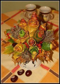 Výsledek obrázku pro podzimni dekorace na stul Bowser, Fall, Handmade, Home Decor, Decorations, Autumn, Hand Made, Decoration Home, Room Decor