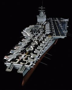 November 25, 1961: USS Enterprise (CVN-65), world's 1st nuclear-powered aircraft carrier, was commissioned. Pictured here is our 1:100 scale model on display at the Museum in DC.