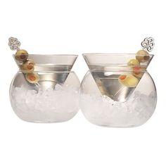 Rockwell Stemless Martini Glass (Set of 2)