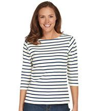 Women's French Sailor's Shirt, Three-Quarter-Sleeve Boatneck
