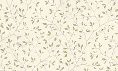 Felix (558-38) - Sandberg Wallpapers - A pretty delicate design with trailing branches and dragonflies shown in cream and beige. This is a paste the wall product. Please request a sample for true colour match.