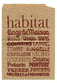 Habitat bag