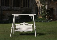Painted swingseat at Forde Abbey