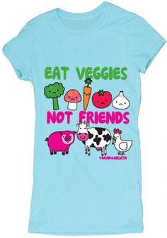 David & Goliath Eat Veggies Not Friends T Shirt