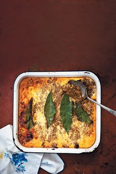 Hildagonda Duckitt's bobotie is a tried and tested family favourite. This filling and hearty dish is an instant (and delicious) South African classic. Bobotie Recipe, Well Seasoned, South African Recipes, White Bread, Curry Powder, Pie Dish, Main Meals, Chutney, Kitchens