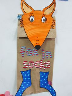fox in socks craft idea - perfect for babysitting moments!