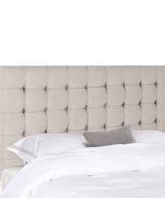 Look at this Taupe Shepard Full Linen Headboard on #zulily today!