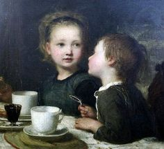 Carl Wilhelm Friedrich Bauerle ~ Table Gossip ~ (German: 1831-1912)