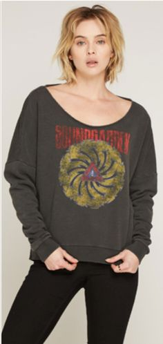 201dfad2 Our women's vintage Soundgarden sweatshirt, by Trunk Ltd. spotlights the  album cover artwork,
