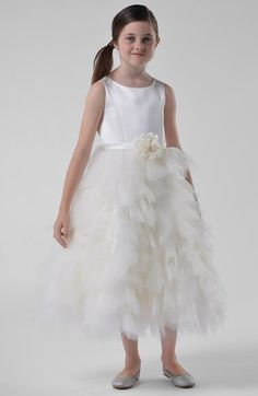 Us Angels Satin & Tulle Dress (Toddler Girls, Little Girls & Big Girls) available at #Nordstrom