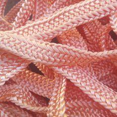 Galon, ruban sfifa marocaine, tissé en fil de soie saumon pastel
