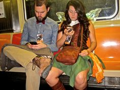 Sometimes there are fairies texting on the subway.