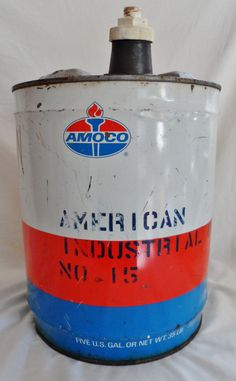 Standard Oil 5-Gallon Oil Can, circa 1960's