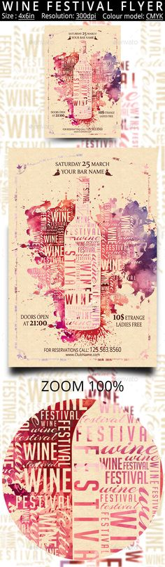 Wine Festival Vintage Flyer — Photoshop PSD #france #festival • Available here → https://graphicriver.net/item/wine-festival-vintage-flyer/17400813?ref=pxcr