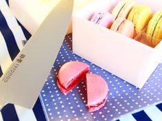 """Today's dessert is macaroon! All are colorful and cute sweets,so let's cut with """"GOUGIRI"""" Kitchen Knives And Cutlery, Professional Chef, Wine Making, Macaroons, Home Brewing, Kitchen Accessories, Kitchen Tools, Good Food, Sweets"""
