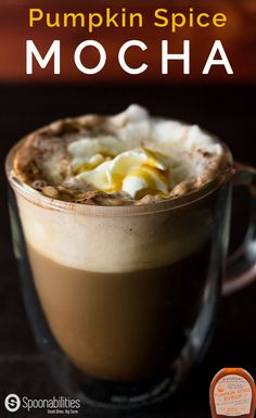 Pumpkin Spice Mocha isn't only at Starbucks. Make your favorite hot or cold drink all year long with this Pumpkin Spice Mocha recipe. Pumpkin Recipes, Fall Recipes, Holiday Recipes, Yummy Drinks, Yummy Food, Mocha Recipe, Non Alcoholic Cocktails, Pumpkin Spice Syrup, Dessert Recipes