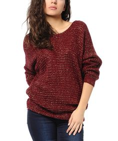 Love this Burgundy Sweater on #zulily! #zulilyfinds