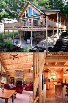 Cedar Log Home  Kodiak – 03203  1,580 Sq. Ft. 3 Bedrooms 2 Bathrooms #cedar #loghome