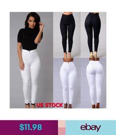 9e6f50b745e8 $11.98 - Women High Waist Slim Jeans Stretchy Pencil Denim Pants Lady Skinny  Trousers Us #
