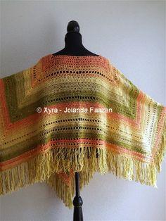 Xyra PATR1031-crochet pattern-triangular poncho by XyraCreaties