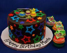 Torta delle Tartarughe Ninja con decorazioni in pasta di zucchero n.75