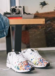 best sneakers 6b3d2 85d1e adidas Originals ZX Flux  Splatter  Baskets, Adidas Outfit, Adidas Shoes,  Adidas
