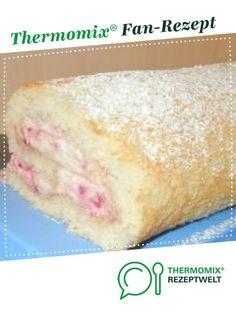 sommerliche Himbeer-Sahne-Rolle von babyfroschl. Ein Thermomix ® Rezept aus der Kategorie Backen süß auf www.rezeptwelt.de, der Thermomix ® Community.