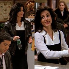 119 - The One Where the Monkey Gets Away Monica Friends, Rachel Friends, Friends Tv Show, Cute Friends, Friends Girls, Courtney Cox, Monica Rachel, Monica Gellar, 90s Inspired Outfits