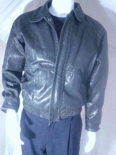 Pour Le Sport Vintage Distresed Black Leather Bomber Jacket Size 36 | Clothing, Shoes & Accessories, Men's Clothing, Coats & Jackets | eBay!