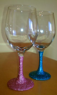 Cute Idea for Gender Reveal party...pick your color glass winner at the end gets a prize!