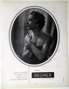 #vintage French Ad Régner with Jacqueline Delubac $14