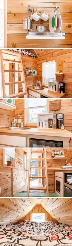 The Piggy Bank tiny house. A popular Airbnb rental that's now available for sale with most of its furnishings included!