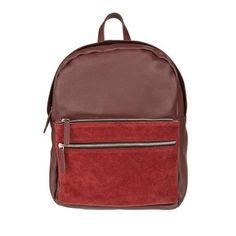 Paco Suede & Leather Backpack Burgundy Red | Park House
