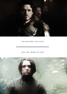 Robb Stark and Arya Stark ~ Game of Thrones