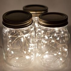 Mason Jar Fairy Lights - beach-style - Table Lamps - Atlanta - Christmas Lights, Etc