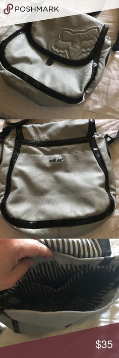 Fox cross over bag Great bag though I have used it a lot. Outside looks good but the interior has noticeable wear as seen in last picture. A stitch repair was done as I loved this bag but my change kept going underneath Fox Bags Crossbody Bags