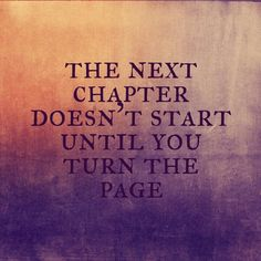 If you feel like you are holding on a little too tight lately... let go... turn the page.