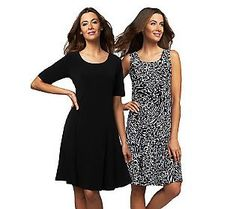 Susan Graver fashions are the greatest. Not expensive,but so comfy and easy to care for. No wrinkles,