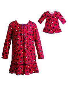 Dollie   Me Fuchsia Leopard Nightgown   Doll Dress - Girls 3d14a6b41